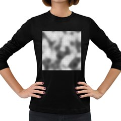 Puzzle Grey Puzzle Piece Drawing Women s Long Sleeve Dark T Shirts