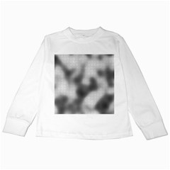 Puzzle Grey Puzzle Piece Drawing Kids Long Sleeve T-Shirts
