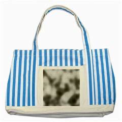 Puzzle Grey Puzzle Piece Drawing Striped Blue Tote Bag