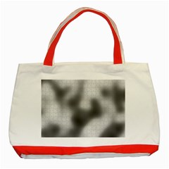 Puzzle Grey Puzzle Piece Drawing Classic Tote Bag (red)