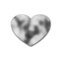 Puzzle Grey Puzzle Piece Drawing Heart Coaster (4 pack)