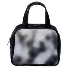 Puzzle Grey Puzzle Piece Drawing Classic Handbags (One Side)