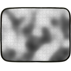 Puzzle Grey Puzzle Piece Drawing Double Sided Fleece Blanket (mini)