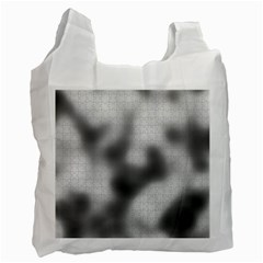 Puzzle Grey Puzzle Piece Drawing Recycle Bag (one Side)