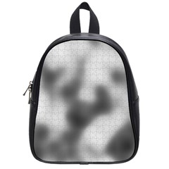 Puzzle Grey Puzzle Piece Drawing School Bags (Small)