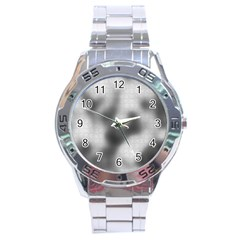 Puzzle Grey Puzzle Piece Drawing Stainless Steel Analogue Watch