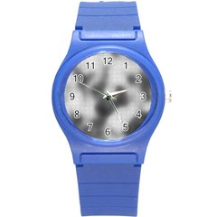 Puzzle Grey Puzzle Piece Drawing Round Plastic Sport Watch (s)