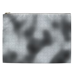 Puzzle Grey Puzzle Piece Drawing Cosmetic Bag (XXL)