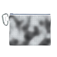 Puzzle Grey Puzzle Piece Drawing Canvas Cosmetic Bag (L)