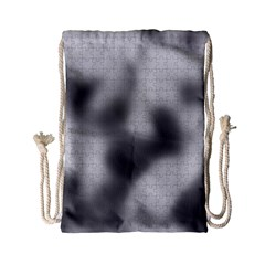 Puzzle Grey Puzzle Piece Drawing Drawstring Bag (Small)