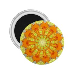 Sunshine Sunny Sun Abstract Yellow 2.25  Magnets