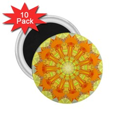 Sunshine Sunny Sun Abstract Yellow 2.25  Magnets (10 pack)