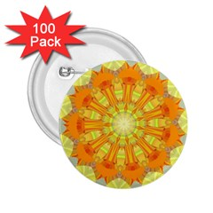 Sunshine Sunny Sun Abstract Yellow 2.25  Buttons (100 pack)