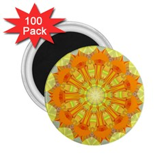 Sunshine Sunny Sun Abstract Yellow 2.25  Magnets (100 pack)