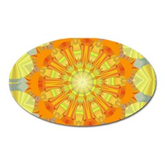 Sunshine Sunny Sun Abstract Yellow Oval Magnet