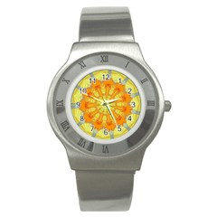 Sunshine Sunny Sun Abstract Yellow Stainless Steel Watch