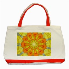 Sunshine Sunny Sun Abstract Yellow Classic Tote Bag (red)