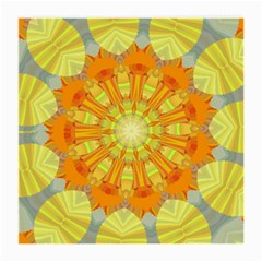 Sunshine Sunny Sun Abstract Yellow Medium Glasses Cloth (2 Side)