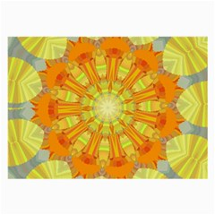 Sunshine Sunny Sun Abstract Yellow Large Glasses Cloth (2 Side)