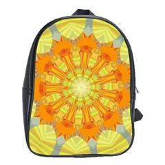 Sunshine Sunny Sun Abstract Yellow School Bags(large)