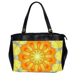 Sunshine Sunny Sun Abstract Yellow Office Handbags (2 Sides)