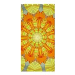 Sunshine Sunny Sun Abstract Yellow Shower Curtain 36  X 72  (stall)