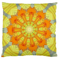 Sunshine Sunny Sun Abstract Yellow Large Cushion Case (two Sides)