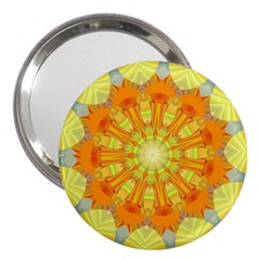 Sunshine Sunny Sun Abstract Yellow 3  Handbag Mirrors