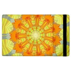 Sunshine Sunny Sun Abstract Yellow Apple iPad 2 Flip Case