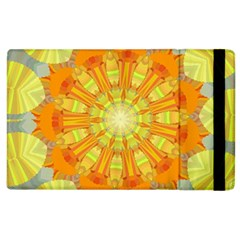 Sunshine Sunny Sun Abstract Yellow Apple iPad 3/4 Flip Case