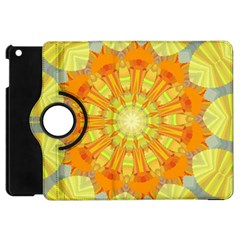 Sunshine Sunny Sun Abstract Yellow Apple iPad Mini Flip 360 Case