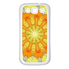 Sunshine Sunny Sun Abstract Yellow Samsung Galaxy S3 Back Case (white)