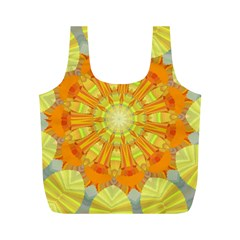 Sunshine Sunny Sun Abstract Yellow Full Print Recycle Bags (M)