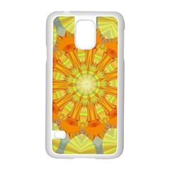 Sunshine Sunny Sun Abstract Yellow Samsung Galaxy S5 Case (White)