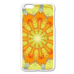 Sunshine Sunny Sun Abstract Yellow Apple Iphone 6 Plus/6s Plus Enamel White Case