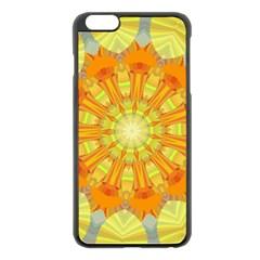 Sunshine Sunny Sun Abstract Yellow Apple Iphone 6 Plus/6s Plus Black Enamel Case