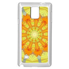 Sunshine Sunny Sun Abstract Yellow Samsung Galaxy Note 4 Case (White)
