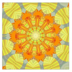Sunshine Sunny Sun Abstract Yellow Large Satin Scarf (square)