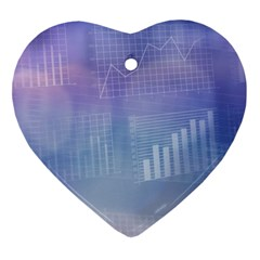 Business Background Blue Corporate Ornament (Heart)