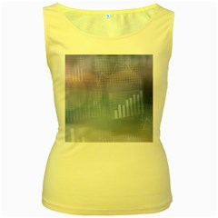 Business Background Blue Corporate Women s Yellow Tank Top