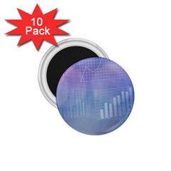 Business Background Blue Corporate 1 75  Magnets (10 Pack)