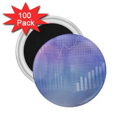 Business Background Blue Corporate 2.25  Magnets (100 pack)