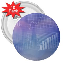 Business Background Blue Corporate 3  Buttons (10 pack)