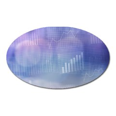 Business Background Blue Corporate Oval Magnet