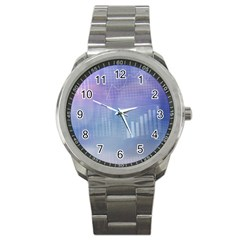 Business Background Blue Corporate Sport Metal Watch