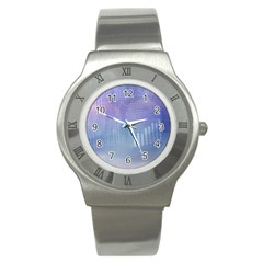 Business Background Blue Corporate Stainless Steel Watch