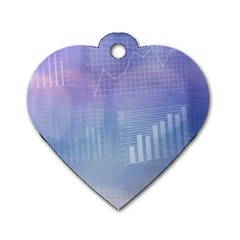 Business Background Blue Corporate Dog Tag Heart (One Side)