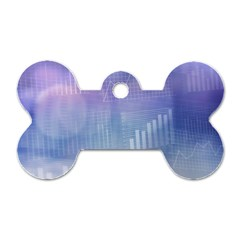Business Background Blue Corporate Dog Tag Bone (One Side)
