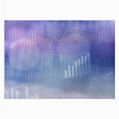 Business Background Blue Corporate Large Glasses Cloth (2-Side)