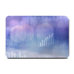 Business Background Blue Corporate Small Doormat